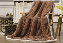 Solid Color Soft Brown Polyester Polar Fleece Blanket