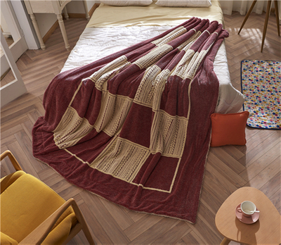 Wholesale Cotton Warm And Soft Sherpa Blanket