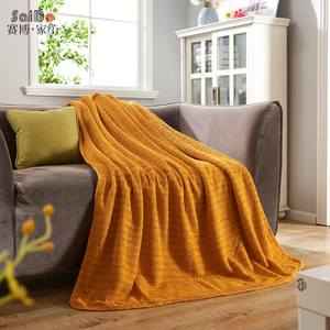 Jacquard Heavy Colorful Home Decorative Fashion Flannel Blanket