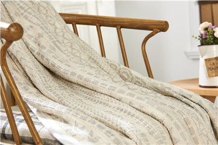 Eco-friendly Reclaimed Material Jacquard Flannel Blanket