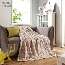 Anti-Pilling Jacquard Luxury Cotton Flannel Blanket