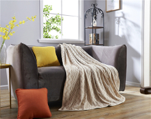 Newest design top Jacquard Knitting Fabric Blanket