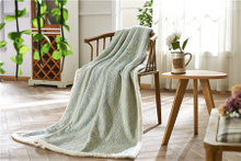 2018 Chinese Factory Professional Knitted Jacquard Fabric Blanket