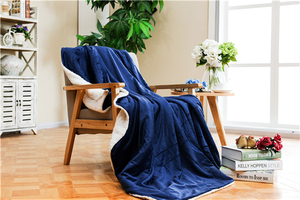 Solid Super Soft Sherpa Composite Blanket