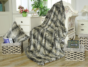 New Design King Size Home Comfort Faux Leather Throw Blanket