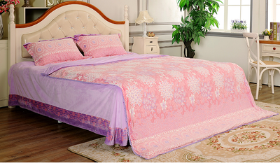 Wholesale Cheap Pink Microfiber Chinese Bedding Set