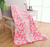 Thick Warm Professional Jacquard Pink Flannel Blanket