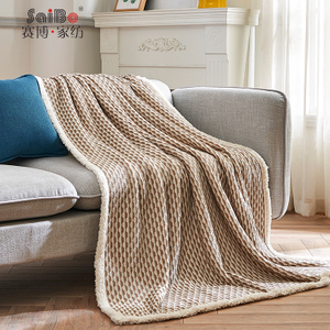Portable Comfortable Jacquard Knit Durable Flannel Blanket